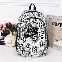 "simpleclothesv : ""Nike"" Sport Hiking Backpack College School Travel Bag Day pack number White"