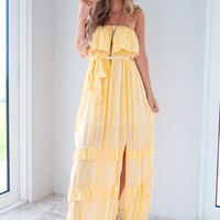Just Being Me Maxi: Yellow/Ivory