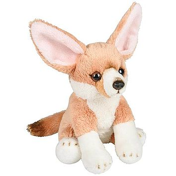 6 Inch Stuffed Fennec Fox Kit Zoo Animal Plush Floppy Animal Kingdom Babies Collection