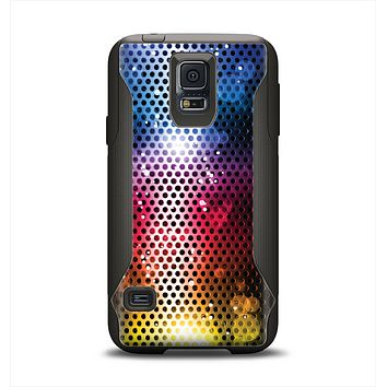 The Neon Glowing Grill Mesh Samsung Galaxy S5 Otterbox Commuter Case Skin Set