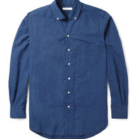 Loro Piana - Cotton and Linen-Blend Chambray Shirt | MR PORTER