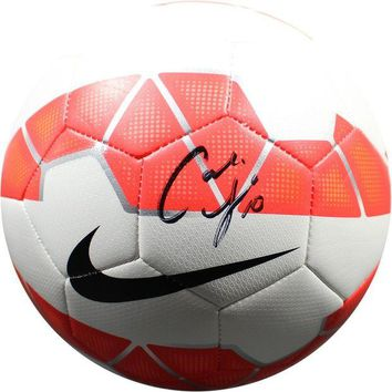 NOVO5 Carli Lloyd Signed Red White Nike Soccer Ball PSA