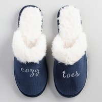 Cozy Toes Velvet Slippers