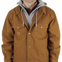 Skechers Men's Canvas Hooded Work Jacket Coat