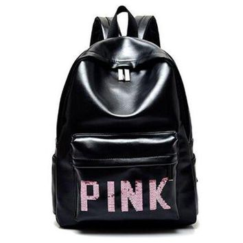 DCCKI2G PINK Victoria's Secret Fashion Sport School Bag Satchel Travel Bag Backpack