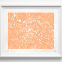 Wroclaw, Poland, Print, Map, Poster, State, City, Street Map, Art, Decor, Town, Illustration, Room, Wall Art, Customize, Dorm, Living Room