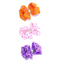 Polka dot Ribbon Hair clip, hair pin, hair accessory for women and kids,