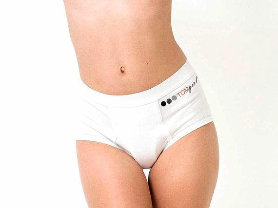 Large Unisex Underwear High Rise White From Tomgirlapparel On