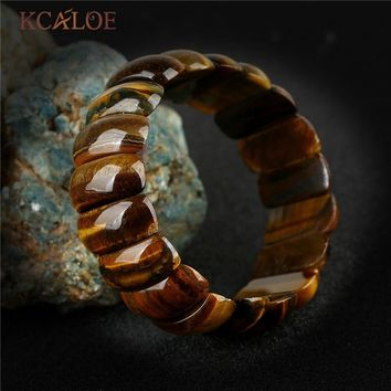 KCALOE Brown Tiger Eye Stone Bracelet Women Lovers Gifts Jewelry Vintage Handmade Natural Stones Yoga Woman Bracelet Bangle