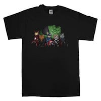 superhero avenger cat T-shirt unisex adults
