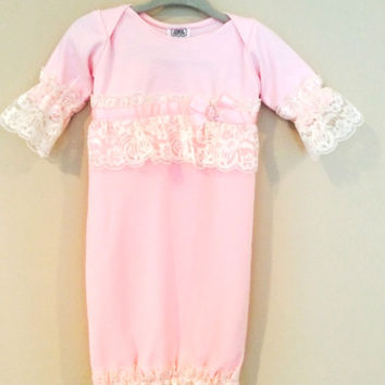 Baby Gown - Pink Chiffon