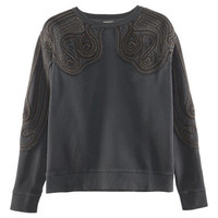 Embellished sweatshirt - from H&M