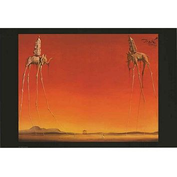 Salvador Dali The Elephants Poster 24x36