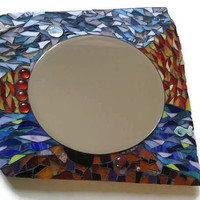 Mirror glass Mosaic Home Decoration Wall Art Hanging four Elements Earth Water Fire Air
