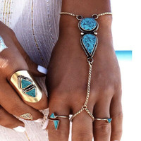 Awesome Hot Sale New Arrival Stylish Shiny Gift Great Deal Turquoise Bohemia Beach Vintage Accessory Bracelet [11485880463]