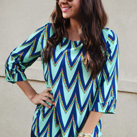 The Chevron Tribe Top: Mint | Hope's