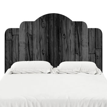Black Stained Wood Headboard Decal