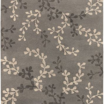 Artist Studio Floral and Paisley Area Rug Gray