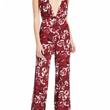 Floral Cross Back Jumpsuit