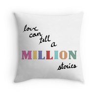 'A Million Stories' Throw Pillow by sydhagen394
