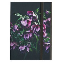 Purple Flowers with Black Background Photography Case For iPad Air