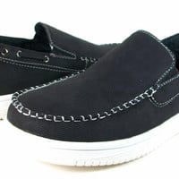 Boys Conal Moccasin Slip On Casual Loafers Shoes K-61027 Black-169