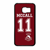 Teen Wolf Mccall Lacrosse Jersey New Design Samsung Galaxy S6 Case