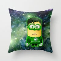 decorative pillow case funny cute despicable me minions green lantern 16, 18 or 20 inch Square Throw pillow case cover