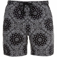 Black Paisley Print Shorts - Men's Shorts - Clothing - TOPMAN USA