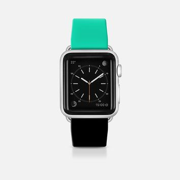 Mint and black apple watch band Apple Watch Band (42mm)  by Yasmina Baggili | Casetify