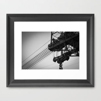 Support Framed Art Print by Upperleft Studios