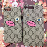 GUCCI Fashion Pattern Print iPhone Phone Cover Case For iphone 6 6s 6plus 6s-plus 7 7plus
