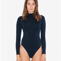 Cotton Spandex Long Sleeve 'Classic' Bodysuit | American Apparel