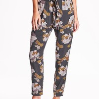 Old Navy Womens High Rise Floral Soft Pants