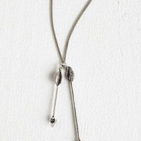 Boho Hits the Mark Necklace in Silver by ModCloth