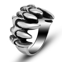 Shiny Gift Jewelry Stylish New Arrival Vintage Titanium Fashion Strong Character Punk A4 Size Ring [6542648387]
