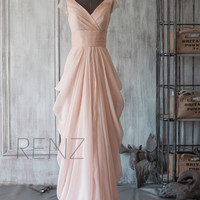 2015 New Chiffon Bridesmaid dress, Wedding dress, Party dress, Formal dress, Floor-length dress (F106)