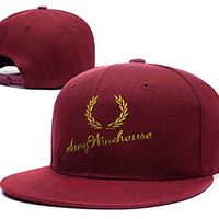 BARONL Amy Winehouse AMY Logo Adjustable Snapback Embroidery Caps Hats - Red