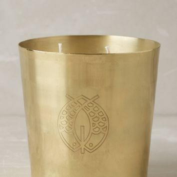 Candlefish Engraved Brass Candle