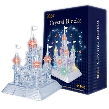 3D Crystal Puzzle Castle With Music Light