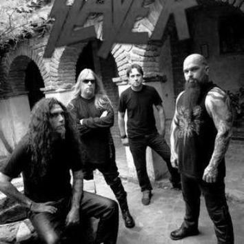 Slayer poster Metal Sign Wall Art 8in x 12in Black and White