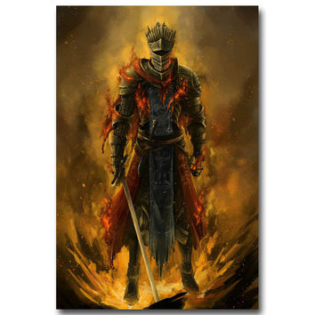 Dark Souls 1 2 3 Art Silk Fabric Poster Print 13x20 20x30inch Game Picture for Wall