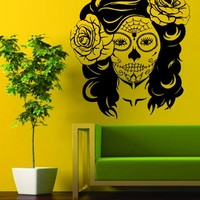 Day of the Dead Girl EXTRA LARGE Decal Sticker Wall Vinyl Art Day of the Dead