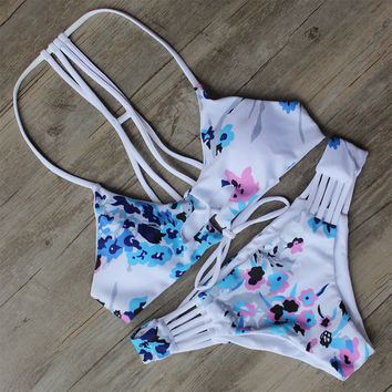 Floral Print Bikini Swimsuit Brazilian Beach Bathing Suit -iHomegifts