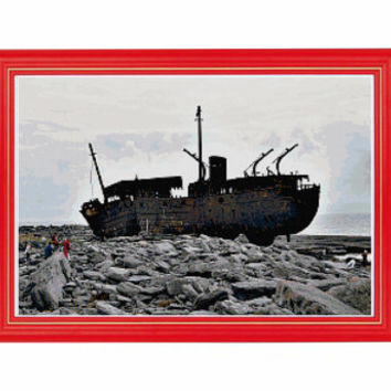 Aran Islands The Plassey, Ireland Cross Stitch Pattern