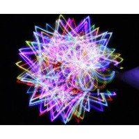 4-light Rainbow LED Rave Orbital Orbit Light Show
