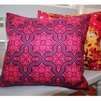 "Decorative Pillows Cover in Purple & Blue 18x18 Slipcover ""Color Me Crazy"" Collection"