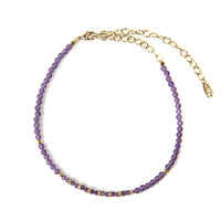Emerson Choker in Amethyst and Gold