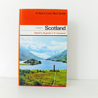 Scotland Guidebook. Ward Lock Red Guide. Vintage Scottish travel book. Scotland travel guide, souvenir, ancestry