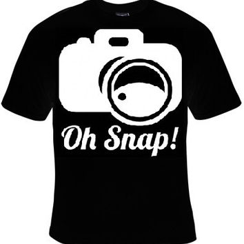 oh snap camera shooting picture t-shirt cool funny t-shirts gift present humor tee shirt